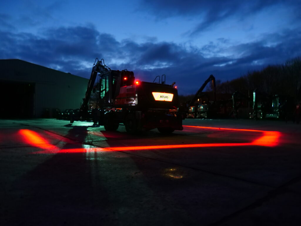 Atlas material handler with FHOSS illuminated livery